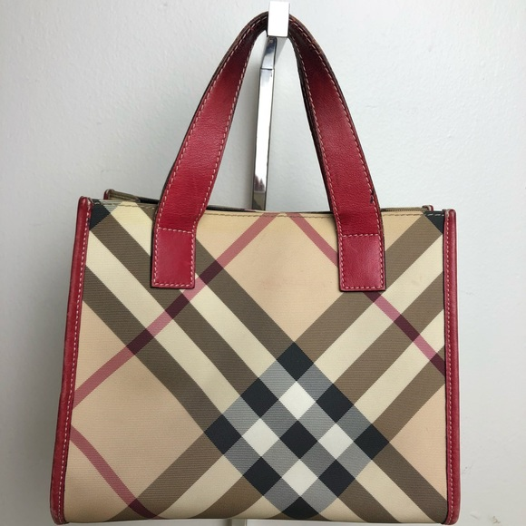 8bcc96cddfd Burberry Bags | Auth Leather And Pvc Handbag | Poshmark